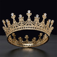 AAA Zircon Bride Crown Headband Queen King Diadem Bridal Wedding Hair Jewelry Accessories Prom Party Tiaras and Crowns Pageant