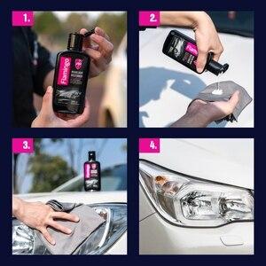 Image 4 - Restaurador de farol de carro 300ml, lâmpada de polimento de farol, lâmpada de limpeza, brilho de lentes, kit de restauração para automóveis 10.5oz