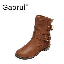 361c3fcb6 Nueva moda mujeres botas mujer primavera y otoño de las mujeres Martin  botas planas vintage cadenas