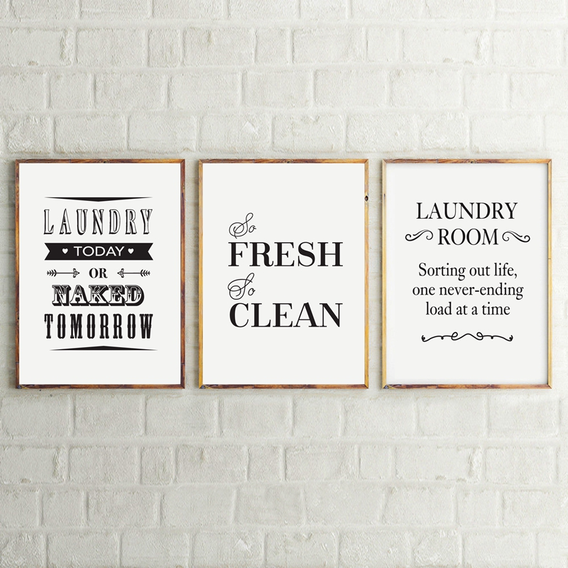 Laundry Room Wall Art Decor Life Canvas Painting And Poster Sign Home Modern Decoration