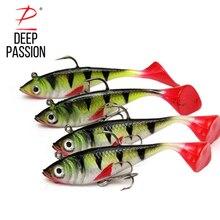 2PC Swimbait Fishing Lures 11g Soft Artificial Jig Baits Peche Long Shot 3 inch Wobbler Carp TackleTreble Hook  Spinner Gear
