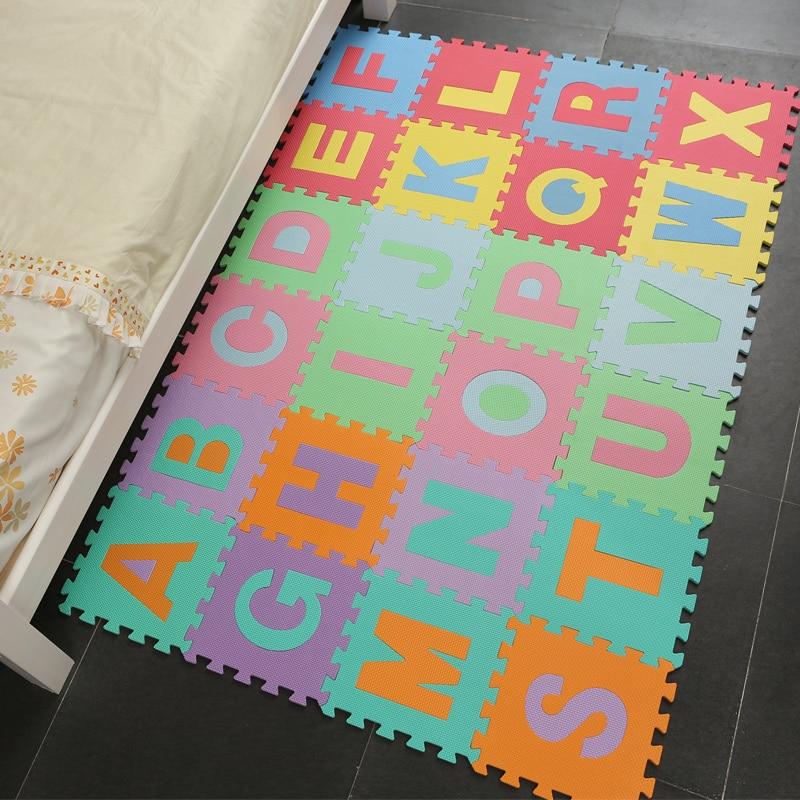 26 pièces/ensemble enfants tapis Puzzle bambin jouets Eva mousse bébé Gym tapis sol souple jouet éducatif enfant tapis tapis de développement - 2
