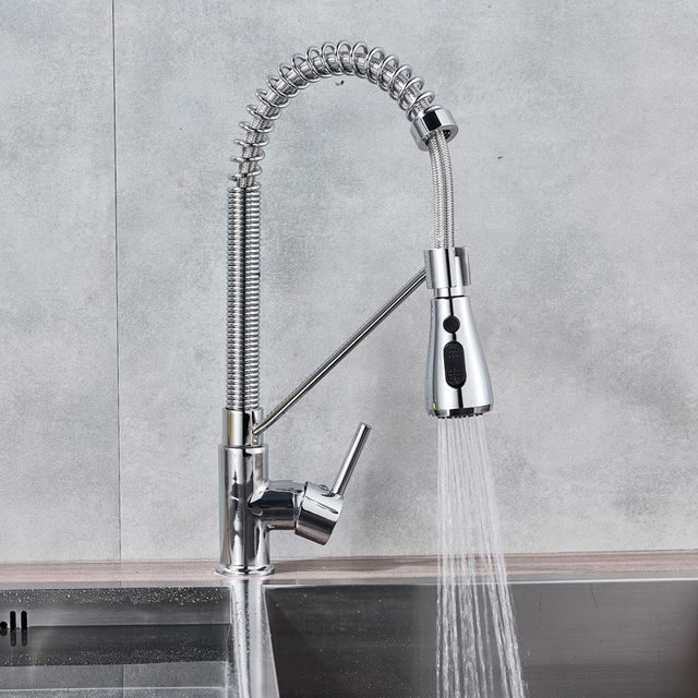 Brushed Nickel Kitchen Faucet Single Handle Bathroom Kitchen Mixers Kitchen Sink Faucet Hot Cold Water Crane Tap for Kitchen