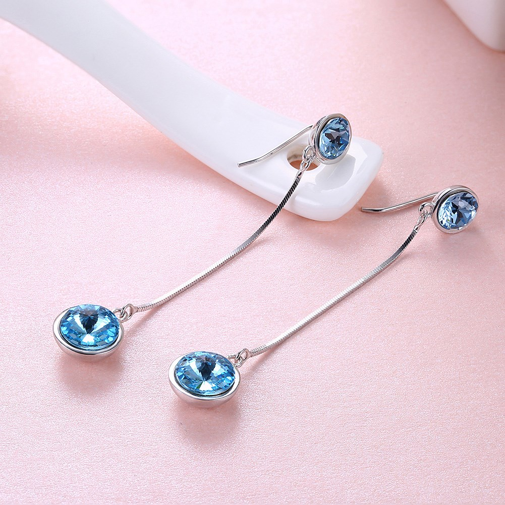 Buy long genuine crystal dangle earrings and get free shipping on ...