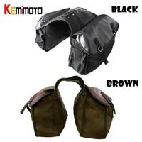 Motorcycle Bag Kit Knight Rider Motorcycle Saddle Bag Brown Color For Yamaha For BMW For Kawasaki