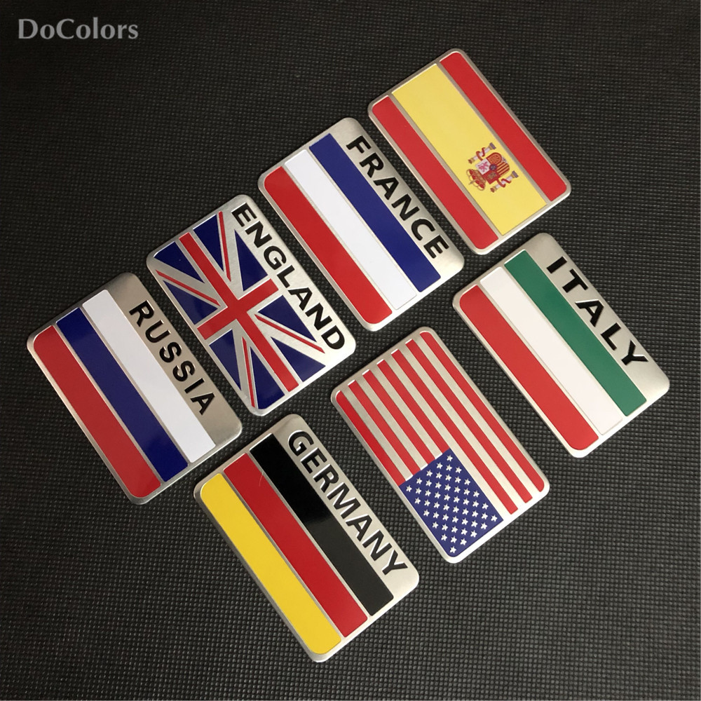 Sticker, Decal Russia FLAG Car Emblem Badge wo Chrome ROUND Bezel and 3D Clear Doming Resin