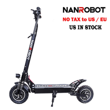 NANROBOT D4+ Upgraded Adult Electric Scooter 10″ 52V23.4Ah 2400W Motor Powerful 45 Miles and 40 MPH 2 Wheel kick e Scooters-in Self Balance Scooters from Sports & Entertainment