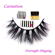wholesale Free shipping in stock 3d mykonos 100% real handmade siberian mink fur strip lashes 3d d008 mink eyelashes