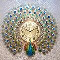 Настенные часы Павлин  современный дизайн  домашний декор  настенные часы  3D бесшумные цифровые настенные часы Clcok для гостиной и спальни  бо...