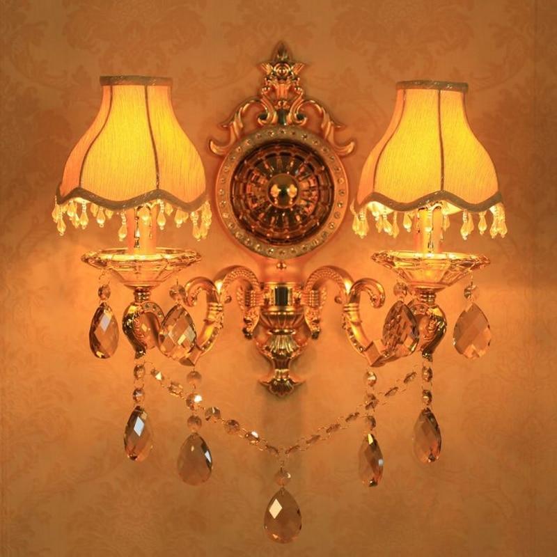 Modern high-grade zinc alloy crystal candle wall lamp European style living room bedroom lamp led Light Fixture Industrial light цена 2017