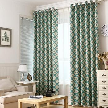 2017 Contracted Printed Northern wind Curtain Cloth Customizable All Polyester High Shading Living Room Nordic Curtain
