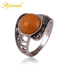 18K White Gold plated aneis vintage Jewelry elegant rhinestones ring women