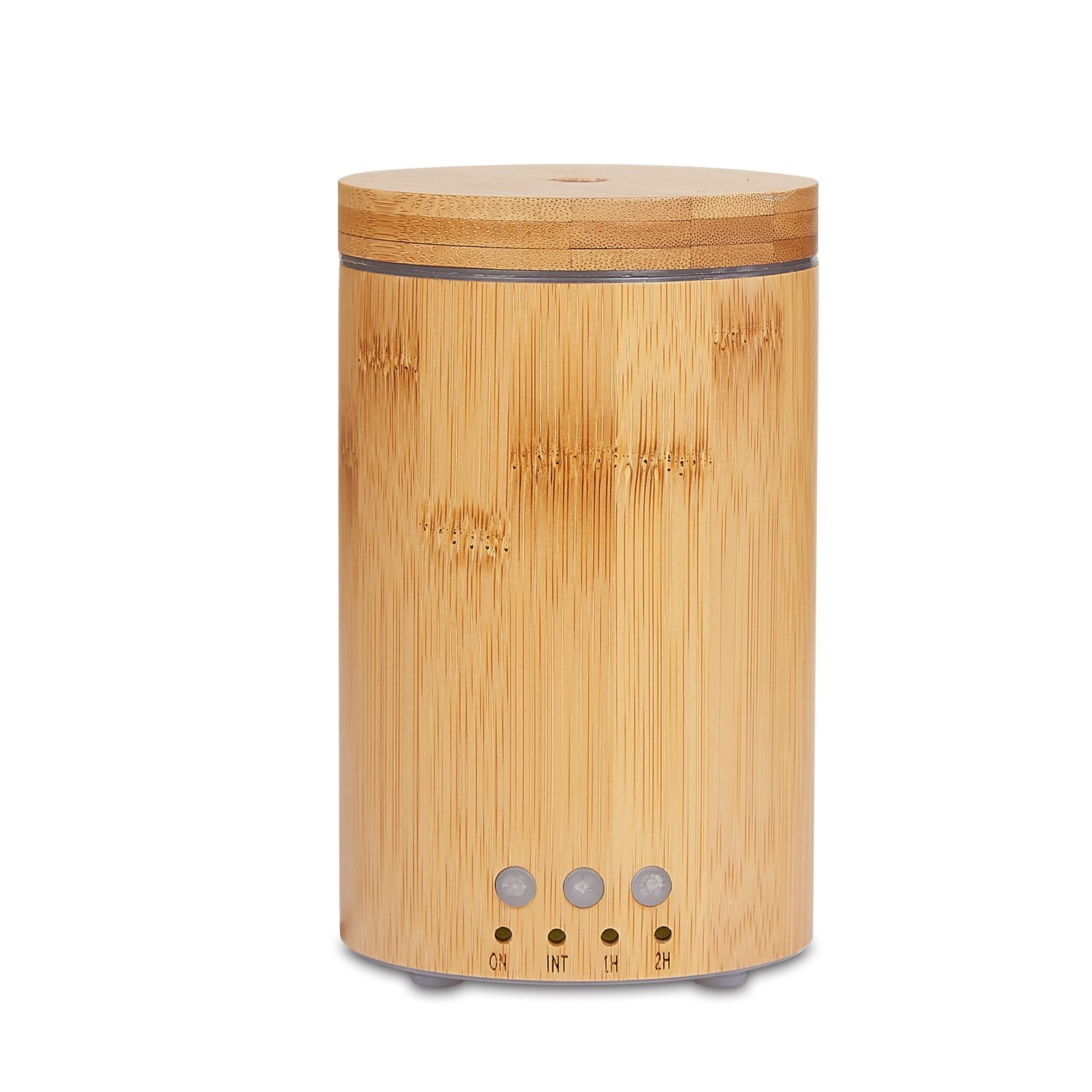 150ML Natural Bamboo Design Air Humidifier With Colors Night Light Timing Function Aroma Essential Oil Diffuser With Two Spray Modes