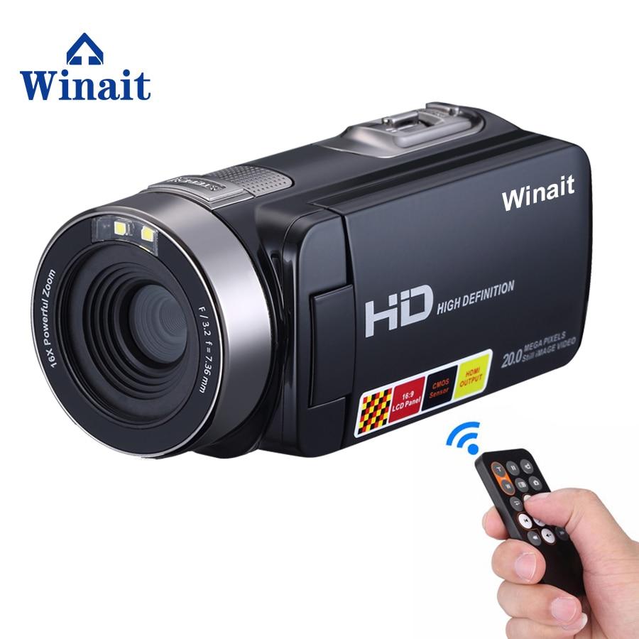 Free Shipping Night Vision Video Camera full hd 1920*1080P HDV-301STR mini camera HD video recorder 24MP digital video camera