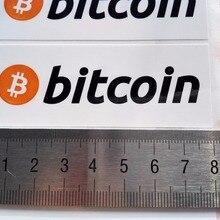 160 шт./лот 8x3 см наклейки с логотипом Биткоин, самоклеящиеся этикетки с криптовалютой, артикул FS20