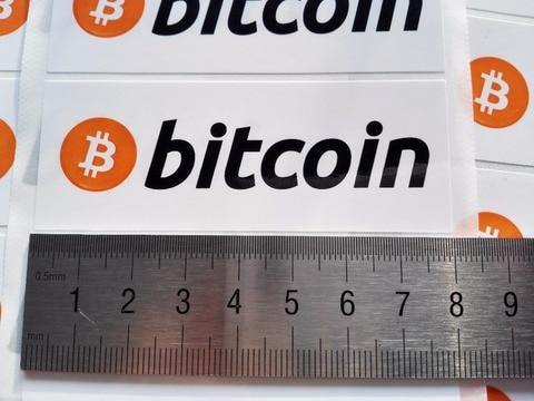 160 pcs lote 8x3 centimetros bitcoin logotipo adesivos auto adesivo etiqueta do cryptocurrency item n