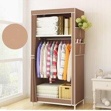 Домашний шкаф для студенческого общежития, шкаф для хранения, шкаф 160x70x45 см, портативный шкаф из ткани, стальная трубка, складной шкаф B477