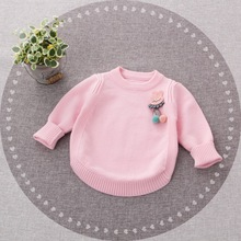 new 2018 spring baby girls cartoon rabbit cute sweater autumn kids clothing knitting cardigan long sleeve children tops sweaters цены онлайн