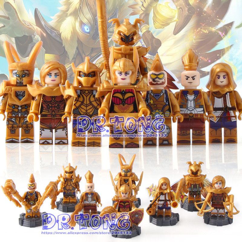 DR.TONG 80pcs/lot SY668 King of Glory Enlighten super heroes Building Blocks Bricks Toys Child Gifts