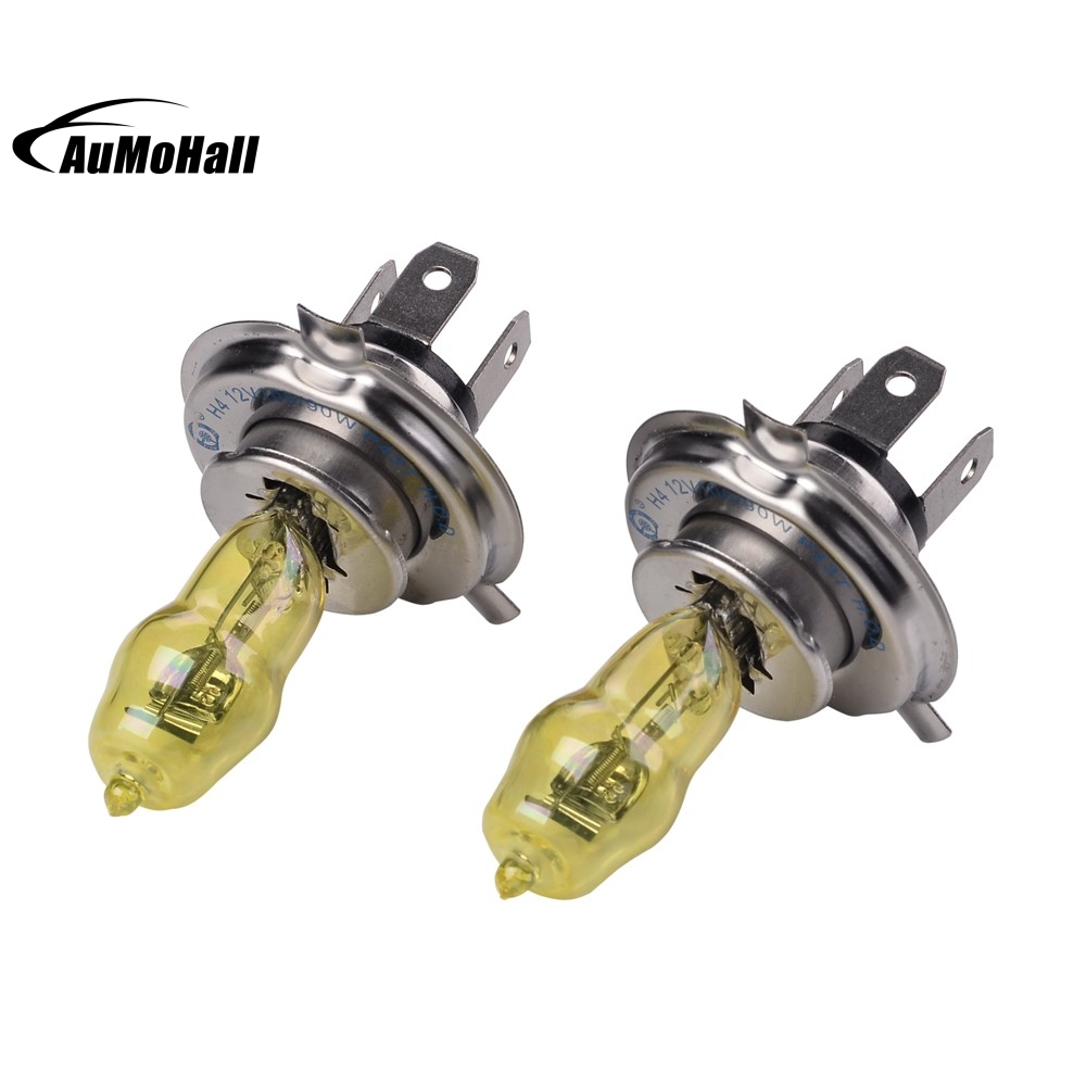 2pcs H4 Xenon Halogen Car Head Light Bulb Lamp Super White 3000K 12V 100W 2 pcs h7 6000k xenon halogen headlight head light lamp bulbs 55w x2 car lights xenon h7 bulb 100w for audi for bmw for toyota