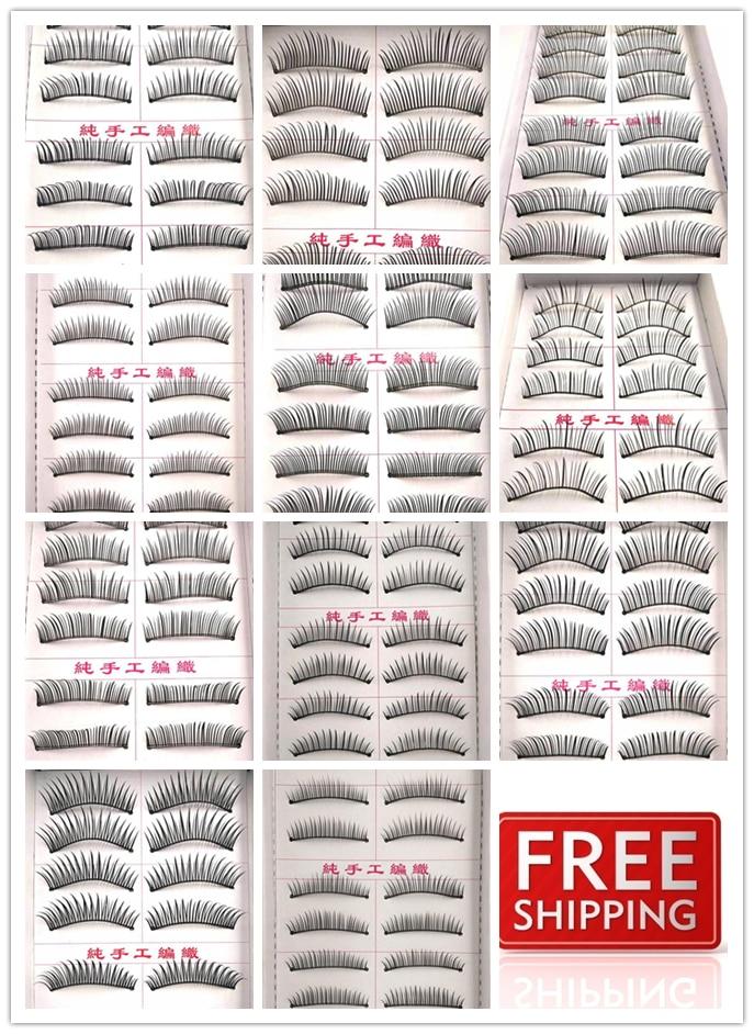 A variety of styles nude makeup Natural slim models mechanism False Eyelashes 10 pairs of false eyelashes fitted upscale