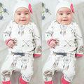 Dreamcatcher Pantalones Sombrero Bebé Recién Nacido Ropa de Manga Larga Camiseta Superior 3 unids Traje Infantil Niño Niños Que Arropan el sistema