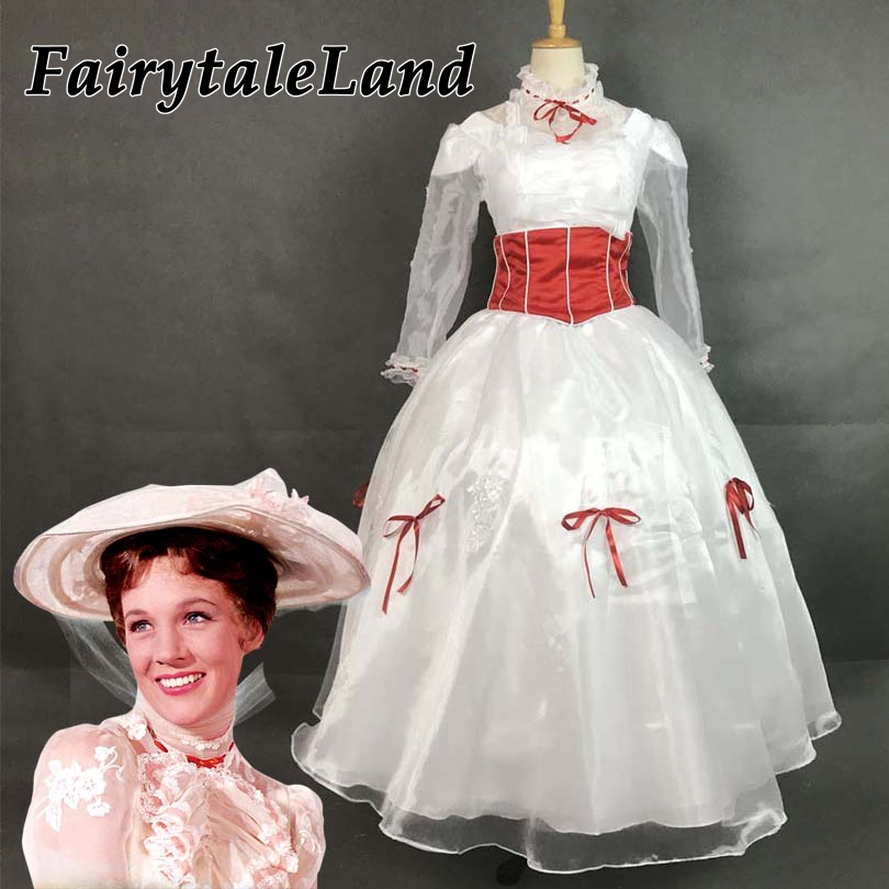 Mary Poppins cosplay costume Adult Women Halloween Costumes Cosplay Mary Poppins dress fancy costume custom made-in Movie & TV costumes from Novelty & Special Use    1