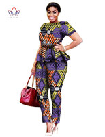African Bazin Riche Clothes For Women Two Piece Outfits Pants African Women Clothing Plus Size Private