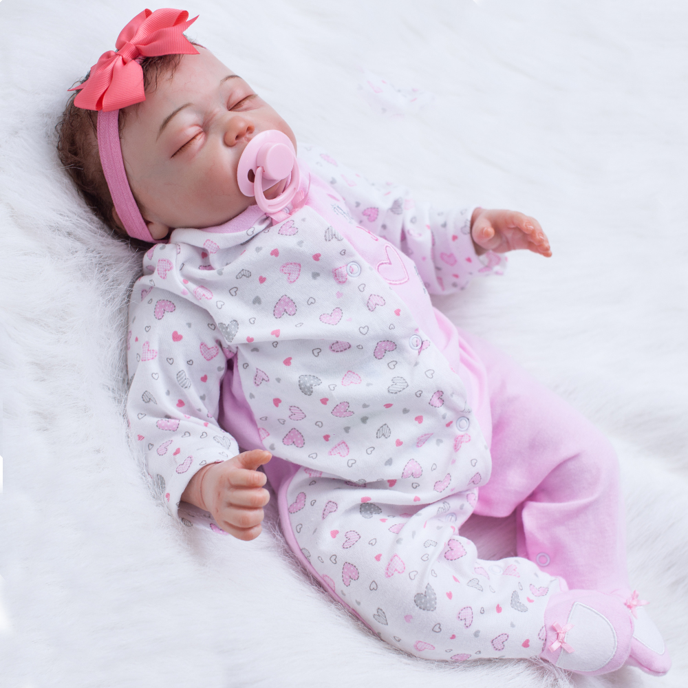 "Boutique Princess bebe reborn menina 22""silicone reborn baby dolls kids gift soft touch real true looking newborn babies bonecas"