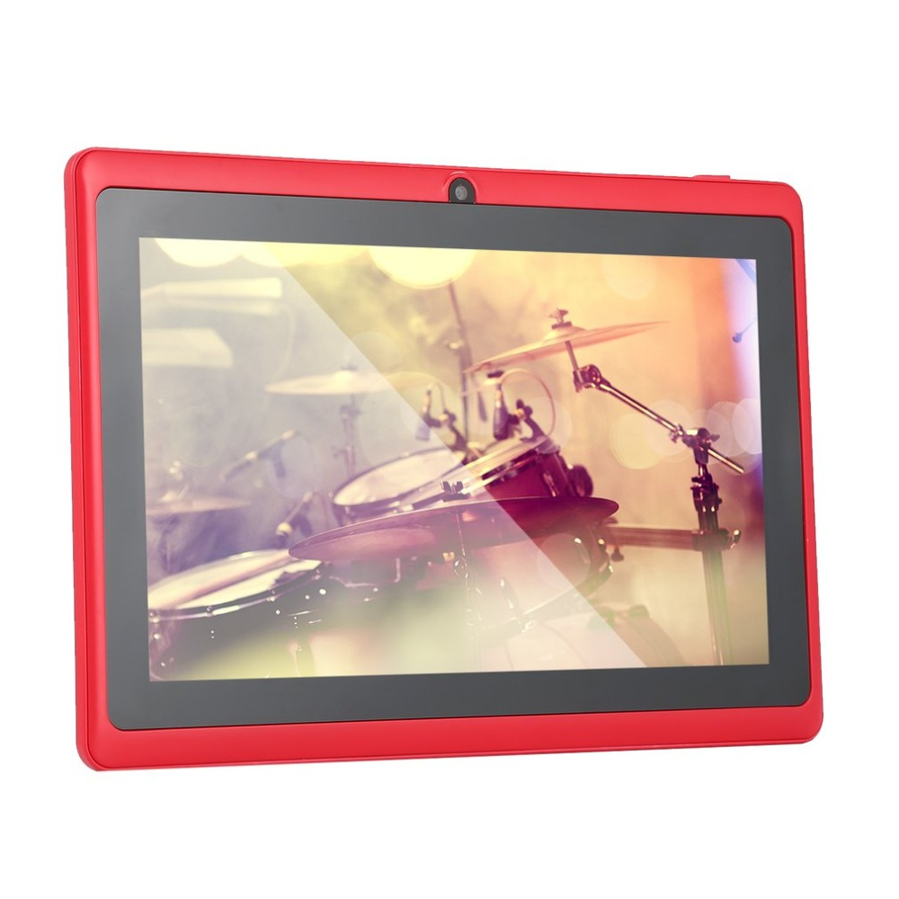 7 pollici Quad-core Tablet Computer Q88h All-in A33 Android 4.4 Internet wifi Bluetooth 512 MB 4 GB Comodo gioco tablet