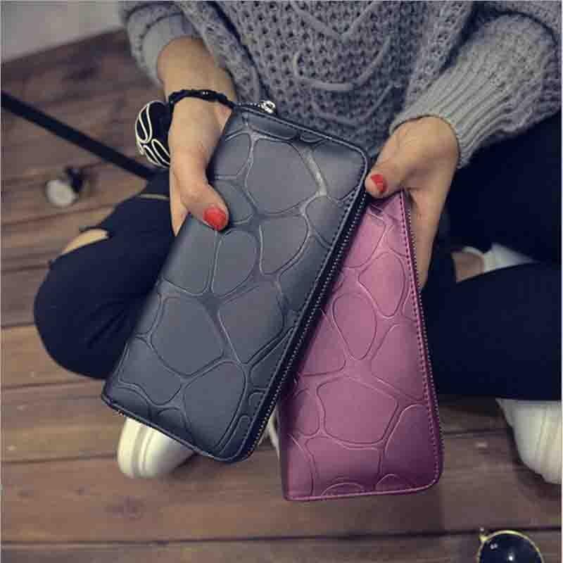 Neue Koreanische frauen Mode Trend PU Uhrarmband-geldbörse Mode Freizeit Hand Brieftasche Mit Karten Halter Lange Uhrarmband-geldbörse