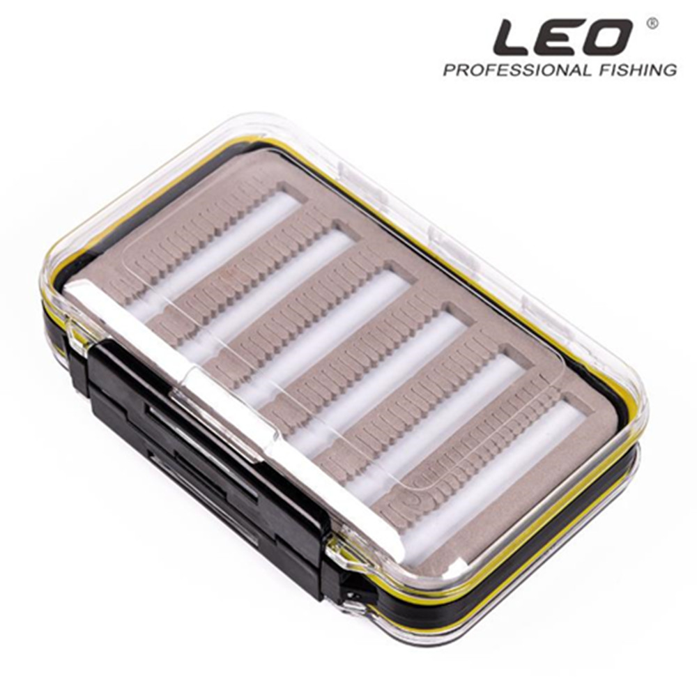 Fly Fishing Box ABS Transparent Double sided Waterproof Fly Box For Fishing Gear Hooks Lures Box 15 10 4 65cm in Fishing Tackle Boxes from Sports Entertainment
