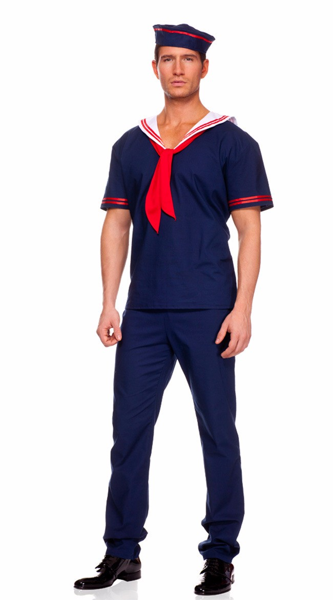 61c01df9469fd free shipping Plus Size Men Navy Cosplay Mens Sailor Costumes ...