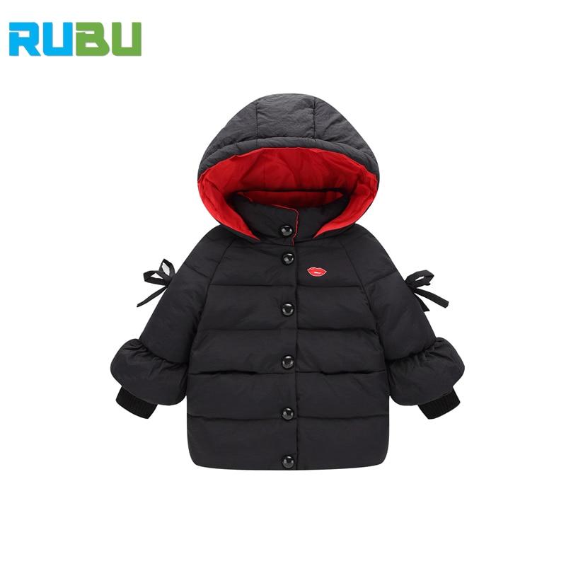 2017 New Spring Winter Children Clothing Princess Casual Baby Girls Clothes Kids Fashion Coat Children Warm Down Jacket JSB277