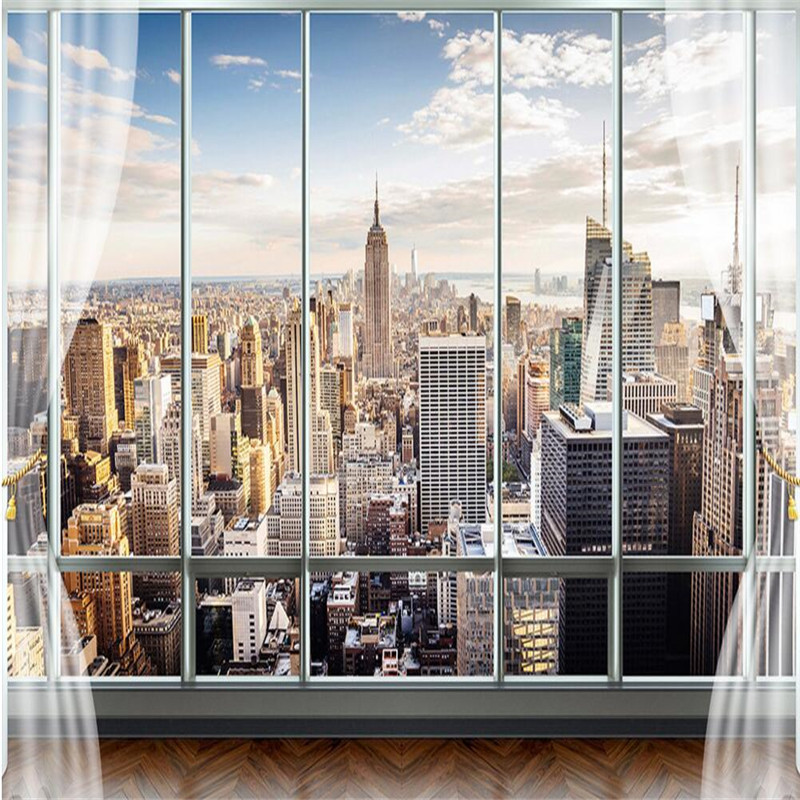 Custom Photo Wallpaper 3D Stereo Large Murals Modern False