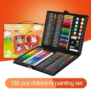 Image 2 - Conjunto de canetas marcadoras para crianças, conjunto de canetas artísticas para desenho de aquarela, arte, pintura para crianças, presente para escritório e papelaria com 288 peças suprimentos