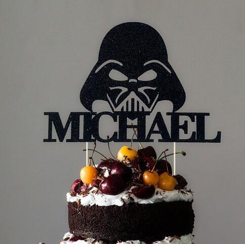 Spersonalizowane Darth Vader Rustykalny ślub Tort Urodzinowy Baby