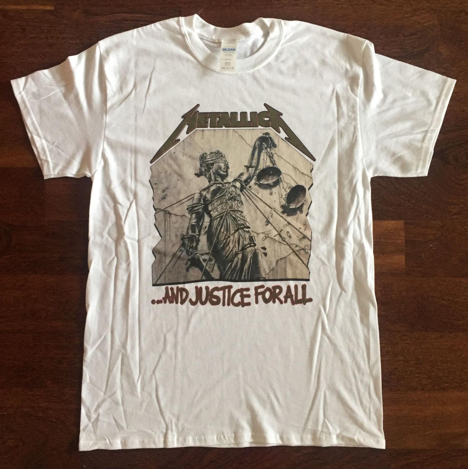 Metallica-. .. И справедливость для всех футболка XLegadeth Testa Для мужчин t исход Anthrax Футболка с принтом Для мужчин хлопковая Футболка Новый стиль ...