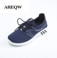 2017 Spring And Autumn Striped Shoes Men Shollow Mouth Lace Flat Shoes Men Pure Color Leisure