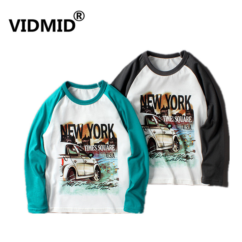 VIDMID New Children Boy Clothes long sleeve Tees Boys T-shirt Casual Cotton Letters Patchwork Striped Kids t-shirts tees 4102 23 1