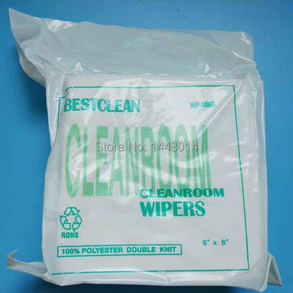 Kualitas Tinggi Printhead Cleanroom Wiper Untuk Epson DX4 DX5 DX7 DX10 Xaar 128 382 Cetak Kepala Non Debu Pembersih Kain 150 Pcs