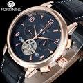2017 NEW FORSINING business brand men's watch auto Mechanical calendar design watch tourbillion gold number wristwatches A848