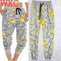 Pokemon Ir Calças Calças de Salão de Pijama Calças Com Cordão Sweatpant Basculador Pikachu Cosplay WXC
