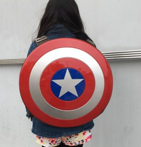 3dbest Cosplay Marvels The Avengers Captain America  Hard Shield Backpack Bag Student Bag Children's Gift Agents Of S.H.I.E.L.D.