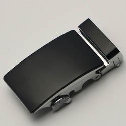 3,5 см ширина пряжки ремня для мужчин серебряный черный металл Автоматическая пряжка головки Высокое качество Натуральная кожа трещотка