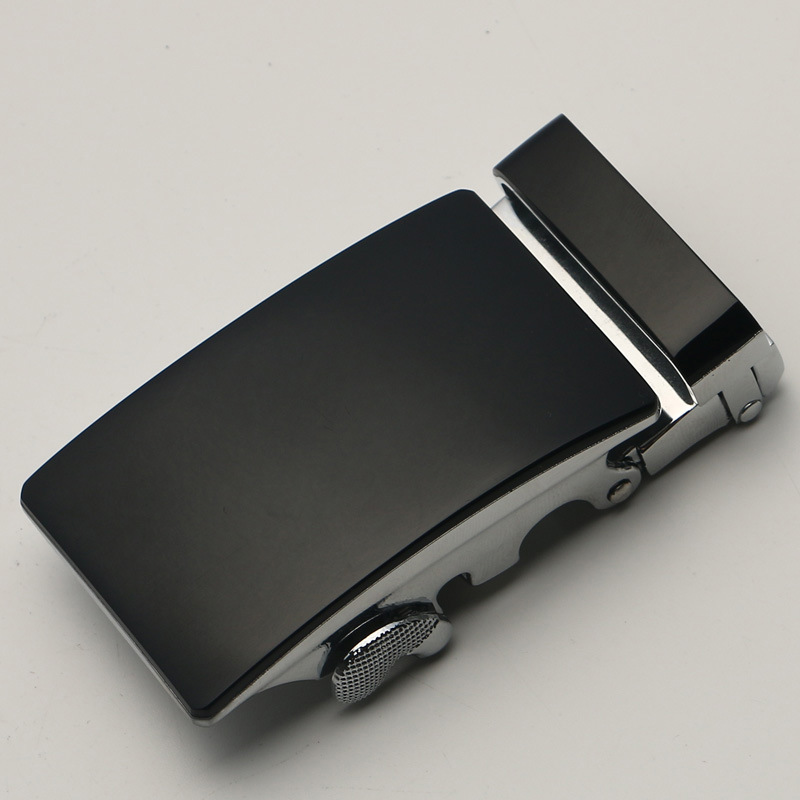 3.5cm Width Belt Buckles For Men Silver Black Metal Automatic Buckle Heads High Quality Genuine Leather Ratchet Belt Buckle