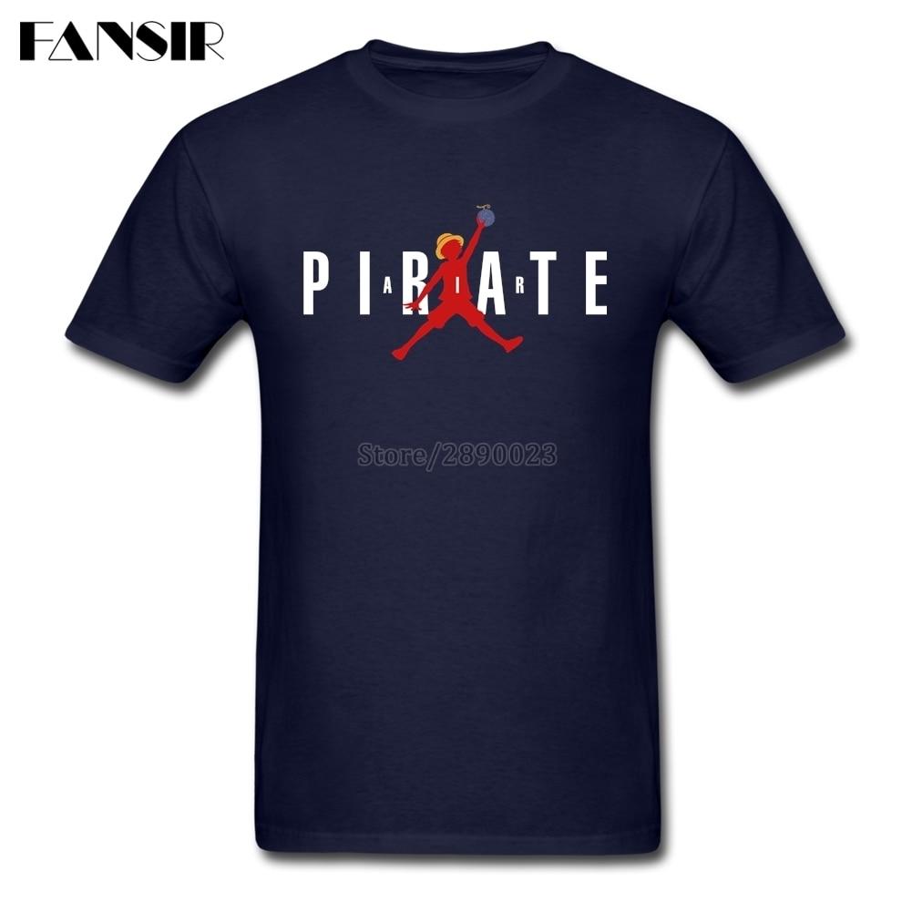 Vintage T Shirts Men Boy 100% Cotton Short Sleeve One Piece Anime Air Pirate Guys Clothes Tops Men T Shirt