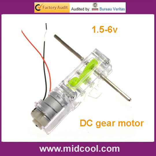 1 5 6v gear dc motor and hexagonal dual output shaft for for Robotic motors or special motors