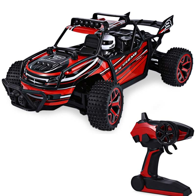 high speed rc car 1 18 24g 4 wheel drive big foot speed buggy rc car model off road vehicle toy radio control cars kids gifts
