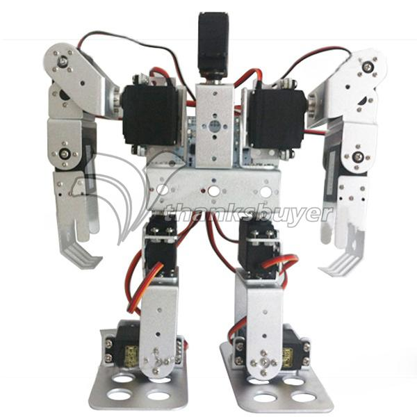 11DOF Biped Robotics 2-Legged Stand Humanoid Robot Frame Kit with Servo Metal Horn & Servos new 17 degrees of freedom humanoid robot saibov6 teaching and research biped robot platform model no electronic control system